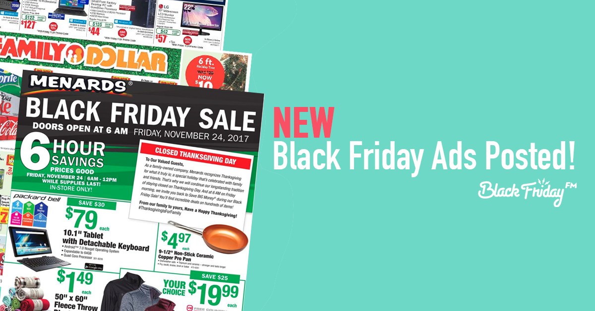 New Black Friday Ads Posted from Menard's, Victoria's Secret, Fry's and More!