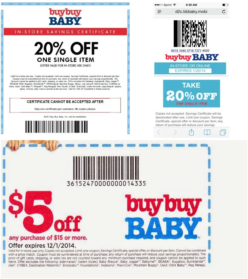 Bye Bye Baby Coupons Bed Bath Beyond