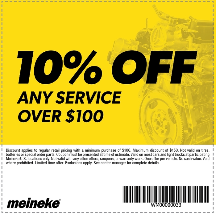 Meineke muffler discount coupons