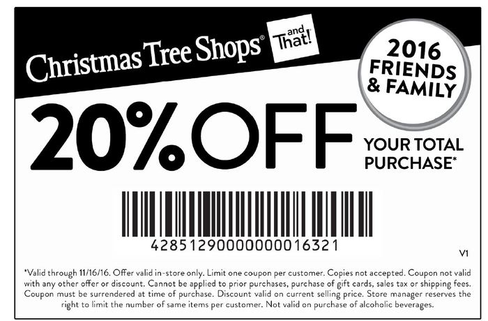 Christmas tree shop coupon 20 off entire purchase