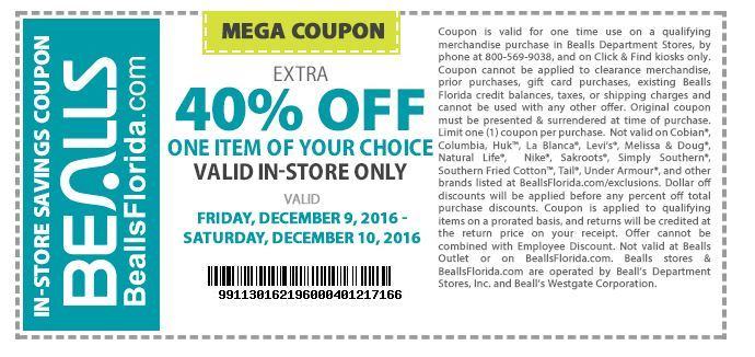 Beallsflorida com coupon code
