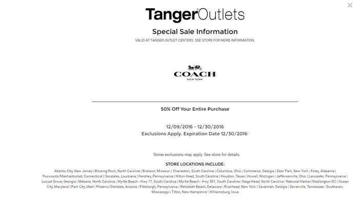 coupons for coach outlet tyhn  coach 50 off coupon