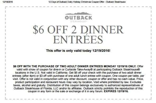 Www outback com coupons