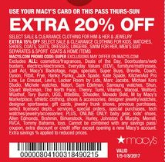 Discount coupon for macy's in store