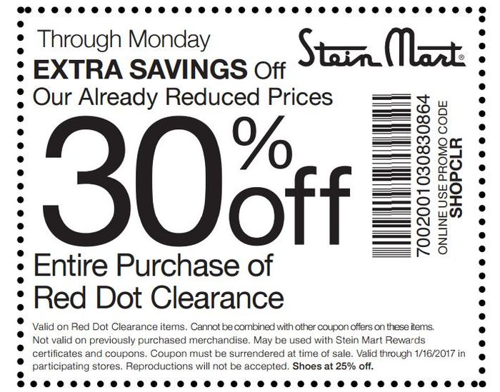 Stein mart coupon codes