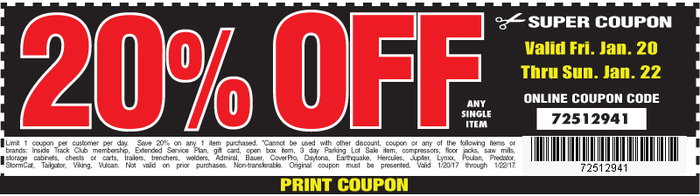 20 Off Harbor Freight Coupon 2018 Trophy Nissan Oil Change Coupons