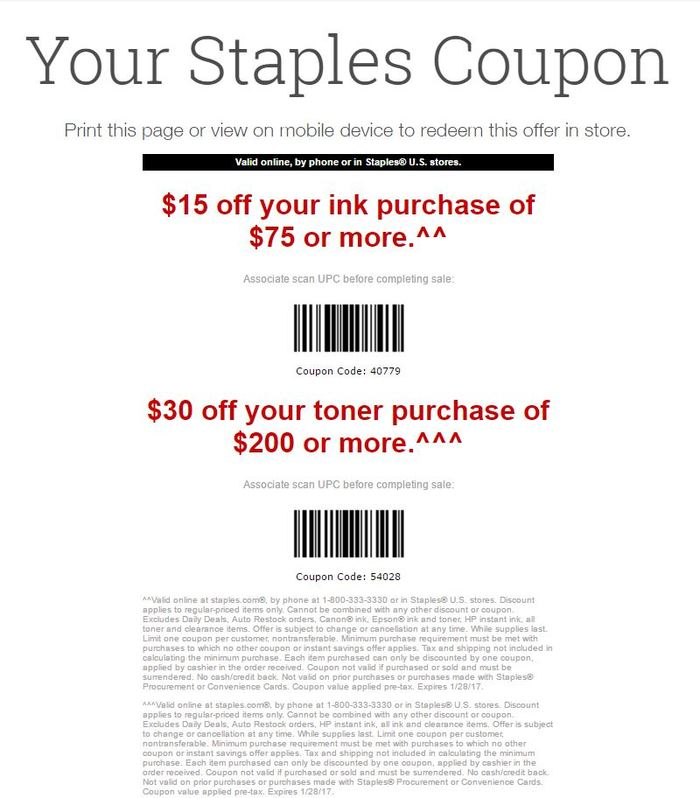 Expires Jan Staples takes up to 10% off ink and toner purchases when you buy multipacks instead of single packs.