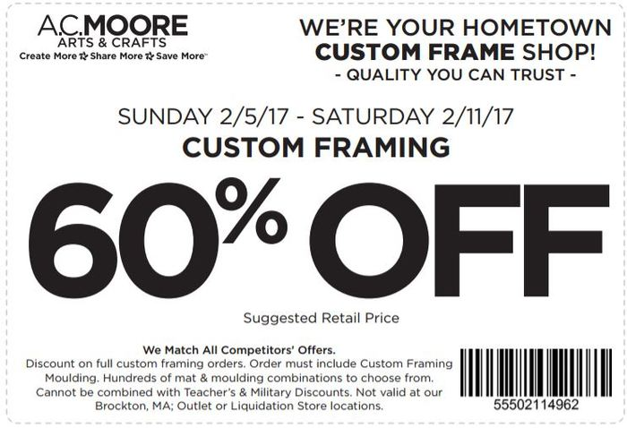 print coupon ac moore coupon 60 off custom framing