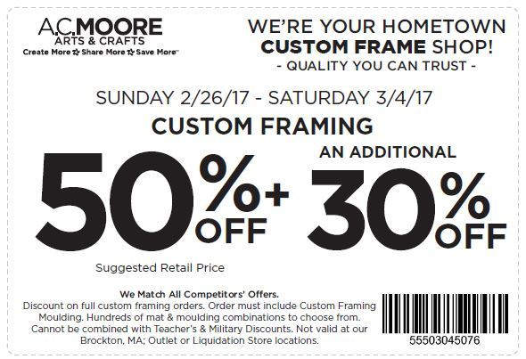 print coupon ac moore coupon 50 off plus additional 30 off custom framing