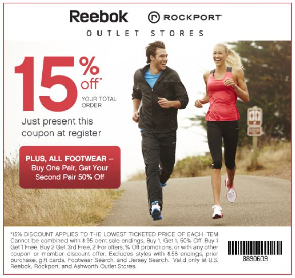 Reebok Outlet Coupon