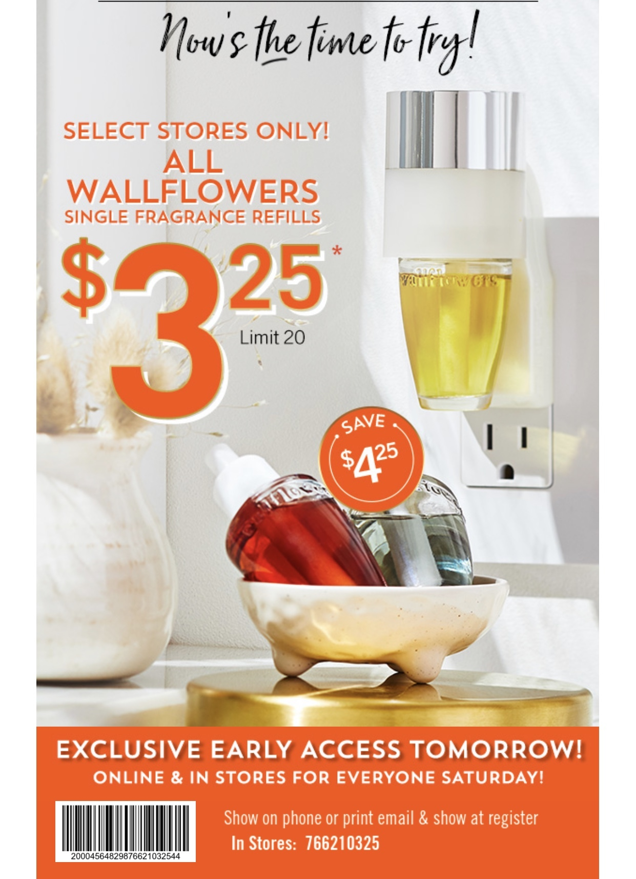 Bath and Body Works Coupon: $3.25 Wallflowers (Select Stores)