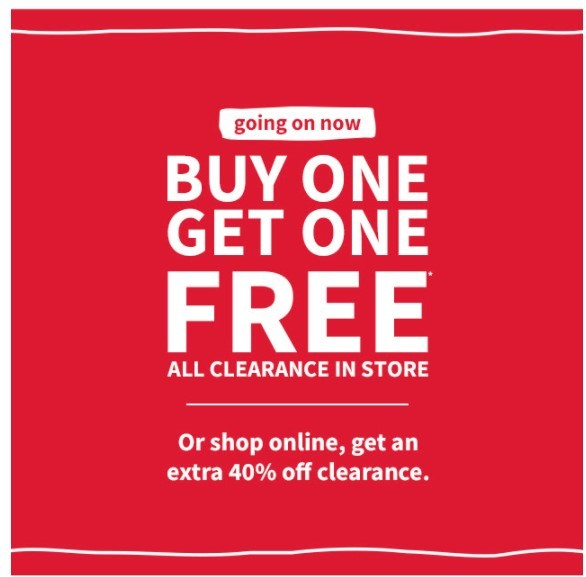Carter's Coupon: BOGO Free All Clearance