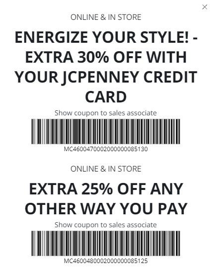JCPenney Coupon: Extra 25-30% Off Entire Purchase