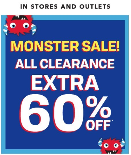The Children's Place Coupon: Extra 60% Off In-Store Clearance | Monster Sale