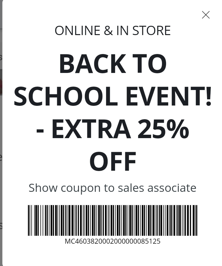 JCPenney Coupon: Extra 25% Off Back to School Sale