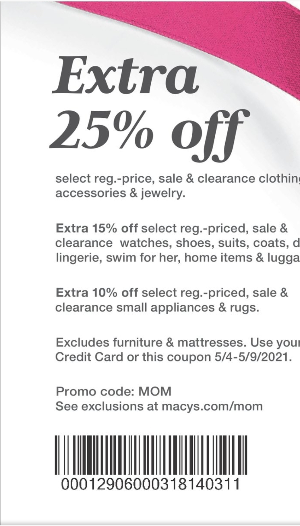 Macy's Coupon: Extra 25% Off Mother's Day Sale
