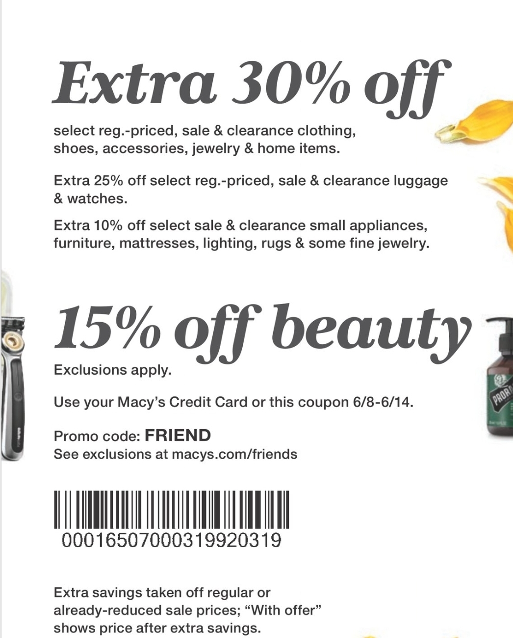 Macy's Coupon: Extra 30% Off Friends & Family Event + 15% Off Beauty