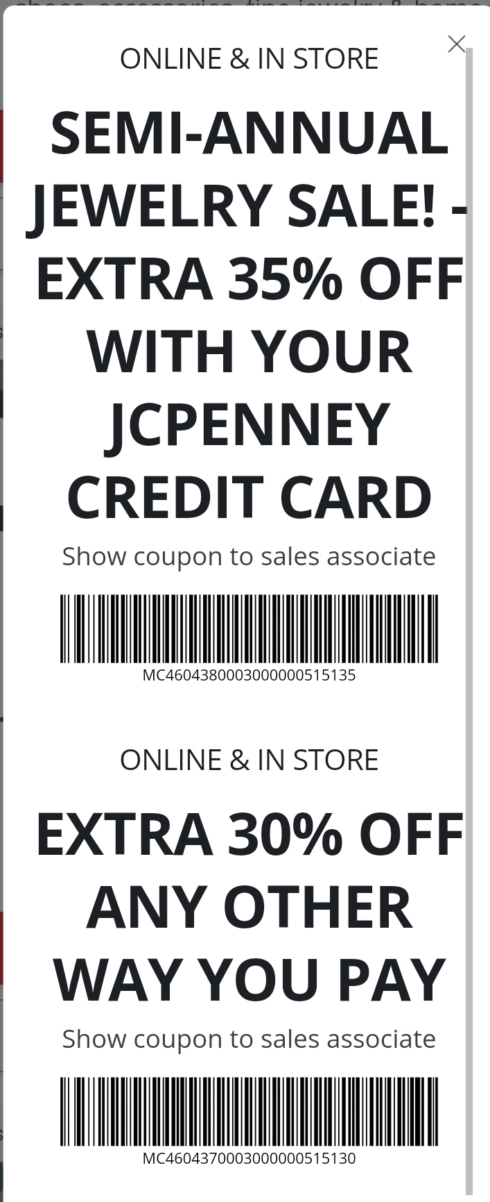 JCPenney Coupon: Extra 30-35% Off Semi-Annual Jewelry Sale