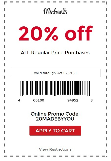 Michaels Coupon: 20% Off Storewide