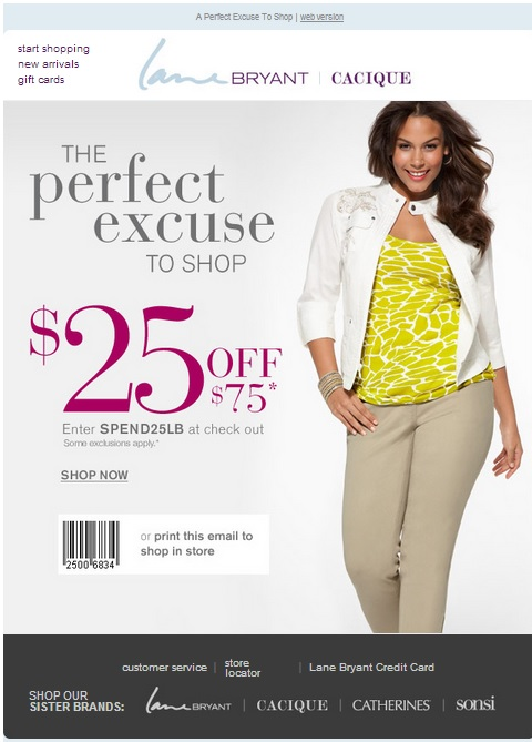 Lane Bryant Coupon