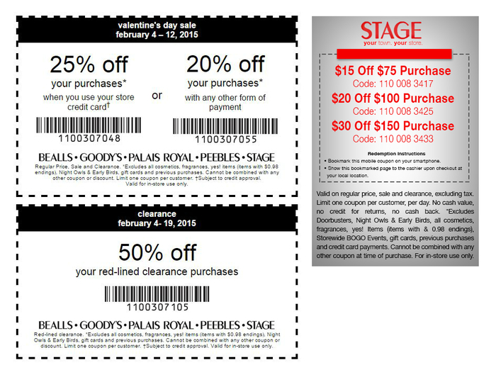 Stage Store Printable Coupons & Stage Coupons Mobile